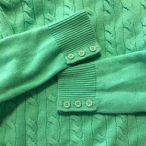 Talbots sweater mint green